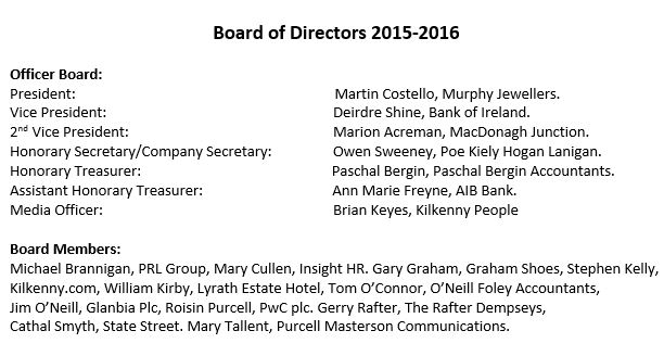 Board Of Directors - June 2015
