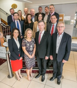 Deirdre Shine, President and John Hurley CEO join other members of the board at the Kilkenny Chamber AGM. Photo: Pat Moore.