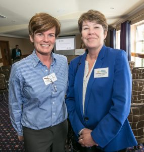 Neans McSweeney and Margaret Swords at the Kilkenny Chamber AGM. Photo: Pat Moore.